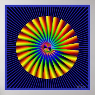 Amazing Turbine Optical Illusion Poster