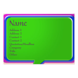 Amazing use of Talk Bubble Design Large Business Card