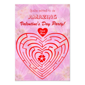 Amazing Valentine's Day 5x7 Paper Invitation Card