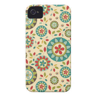Amazing Vintage Retro Floral Abstract iPhone 4 Case