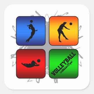 Amazing Volleyball Urban Style Square Sticker