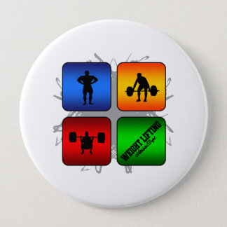 Amazing Weight Lifting Urban Style Button