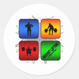 Amazing Weight Lifting Urban Style Classic Round Sticker