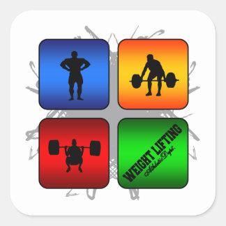 Amazing Weight Lifting Urban Style Square Sticker