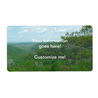 Amazing West Virginia Mountain View Label