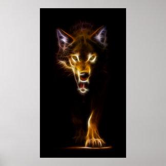 Amazing Wolf Image Poster