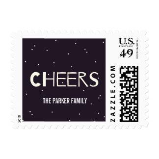 Amazing Year Cheers Holiday Postage