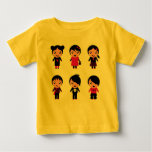 Amazing yellow artistic T-Shirt with EMOS