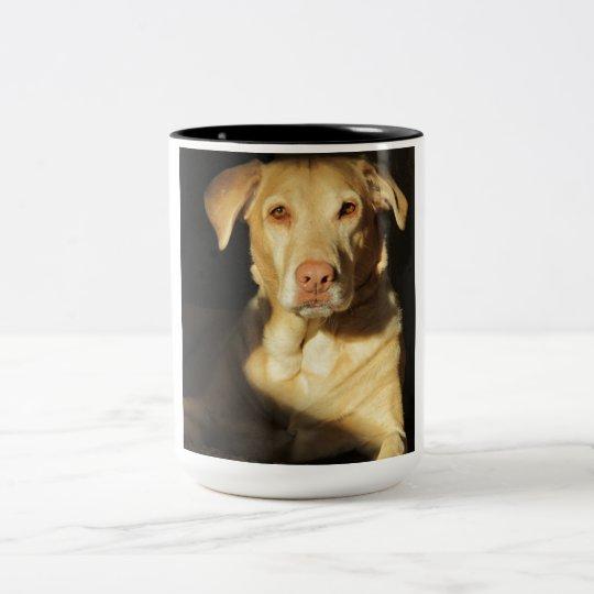 Amazing yellow lab photo on mug