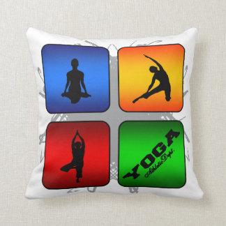Amazing Yoga Urban Style Throw Pillow