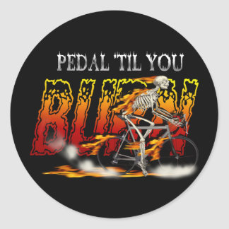 Amazingly Cool Spinning Cyclists Cyling gift Classic Round Sticker
