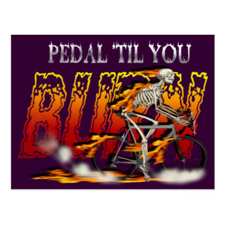 Amazingly Cool Spinning Cyclists Cyling gift Postcard