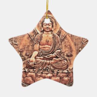 Amazingly Detailed Copper Buddha Ceramic Ornament
