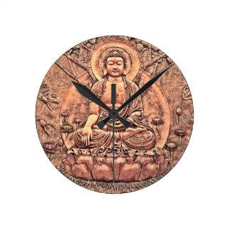 Amazingly Detailed Copper Buddha Round Clock