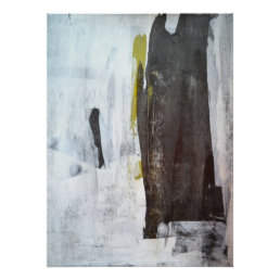 'Amazingly Modern' Black and White Abstract Art Poster