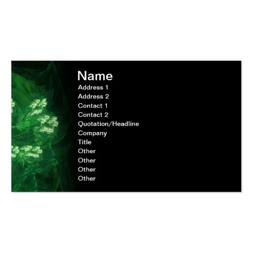 Amazon Abstract Digital Fractal Art Double-Sided Standard Business Cards (Pack Of 100)
