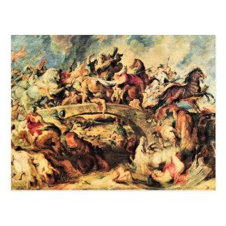 Amazon Battle by Paul Rubens Postcard