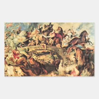 Amazon Battle by Paul Rubens Rectangle Sticker
