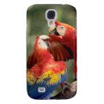 Amazon, Brazil. Pair of Scarlet Macaws (Ara Samsung S4 Case