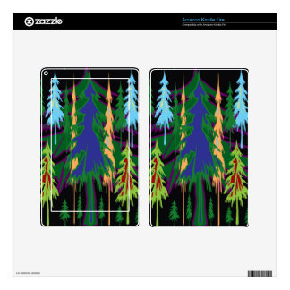 Amazon Dense Forest Trees Abstract Art on Gifts Decals For Kindle Fire