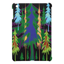 Amazon Dense Forest Trees Abstract Art on Gifts iPad Mini Cover