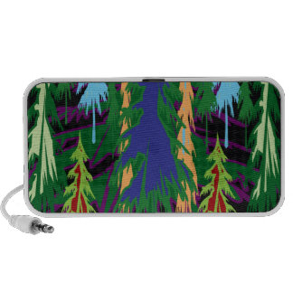 Amazon Dense Forest Trees Abstract Art on Gifts Laptop Speakers