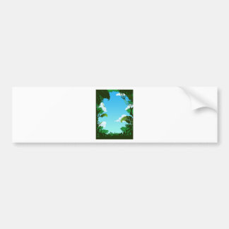 Amazon Forest Painting Bumper Stickers