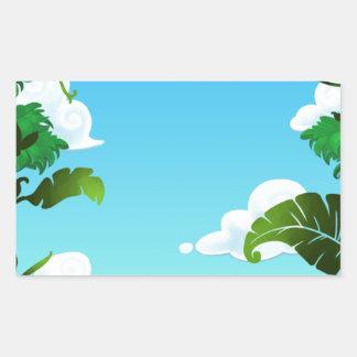 Amazon Forest Painting Rectangular Sticker