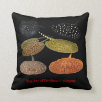 Amazon Freshwater Stingray Throw Pillow