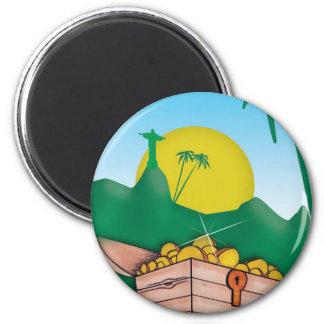 Amazon Gold Magnet