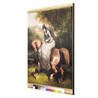 Amazon in the Forest at Pierrefonds Canvas Print