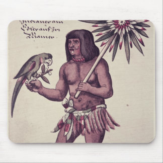 Amazon Indian, engraved by Theodore de Bry Mouse Pad