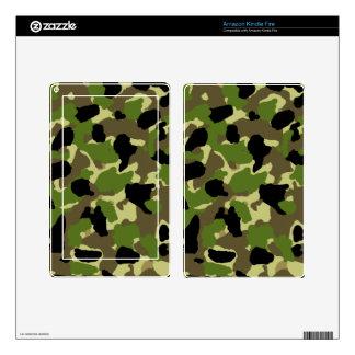 Amazon Kindle Fire Camouflage Custom Skin