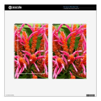Amazon Kindle Fire Skin - Coral Aphelandra