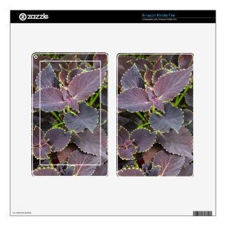 Amazon Kindle Fire Skin - Merlot Coleus