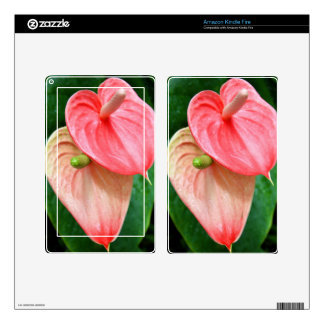 Amazon Kindle Fire Skin - Oilcloth Flower