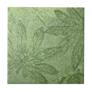 AMAZON LEAF PRINT CERAMIC TILE