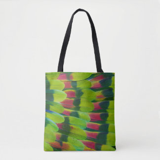 Amazon Parrot Green Feather Design Tote Bag