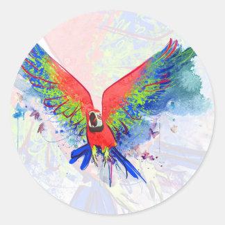 Amazon Parrot Macaw Classic Round Sticker