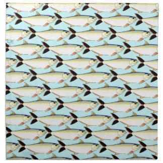 Amazon Pellona fish Pattern in blue Cloth Napkin