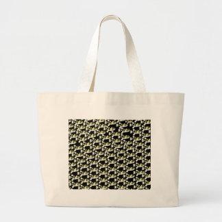 Amazon Puffer fish pattern in black Jumbo Tote Bag