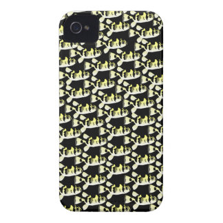 Amazon Puffer fish pattern in black iPhone 4 Case-Mate Cases