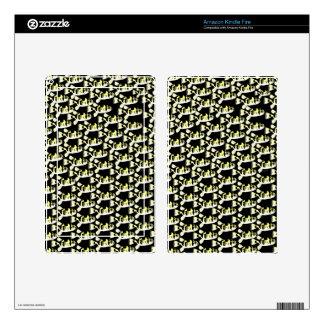 Amazon Puffer fish pattern in black Kindle Fire Decals