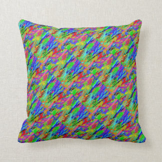 Amazon RainForest : Colorful OneOFaKIND Throw Pillow