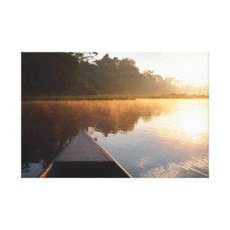 Amazon rainforest sunrise canvas print