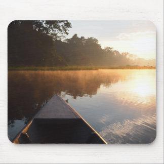 Amazon rainforest sunrise mousepad