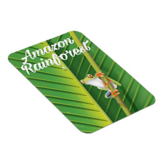 Amazon rainforest Travel poster Magnet