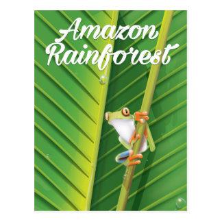 Amazon rainforest Travel poster Postcard