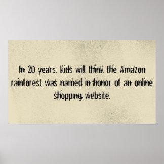 Amazon rainforest v shopping poster