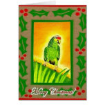 Amazon Red Lored Parrot Christmas Cards